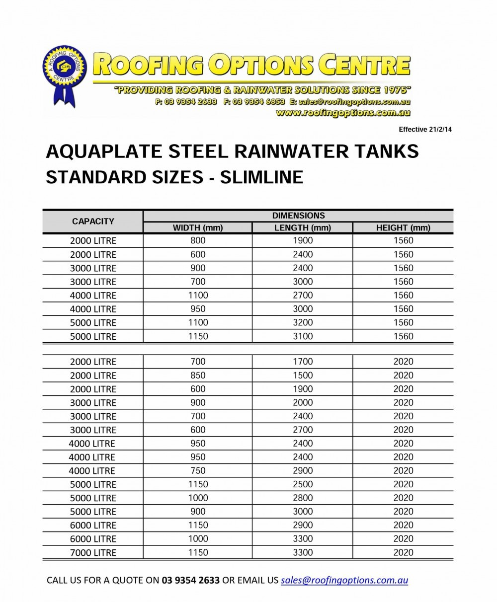 cover tank dimensions