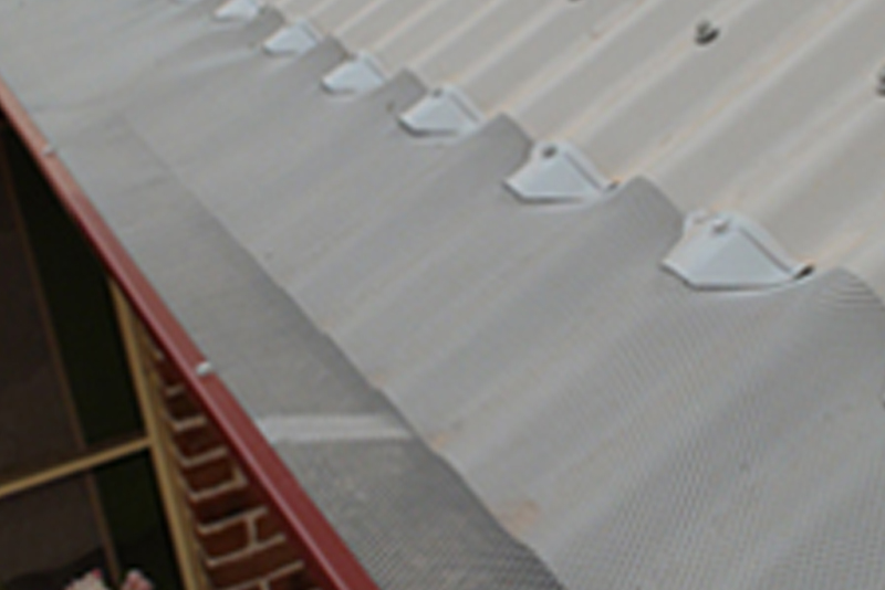 Guttering on Corrugated Roof