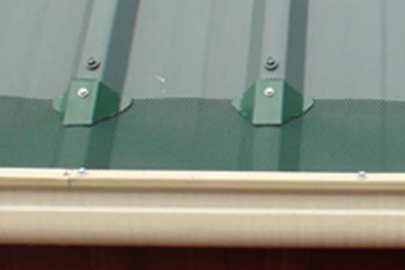 Gutters installed on Deck Roof
