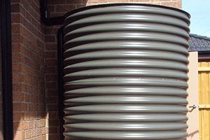 round rain water tanks