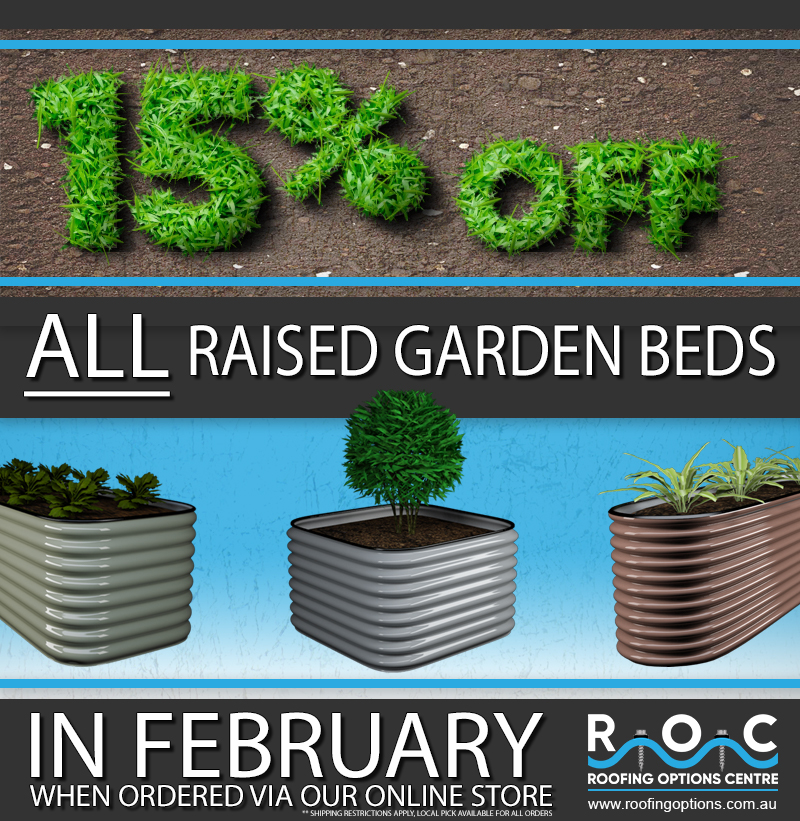 15% Off Raised Garden Beds In February