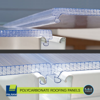 3. Poly Roof White Clear